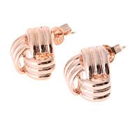 Triangle Ribbon Golden Stud Earrings