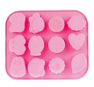12-Cavity Silikon Backform (Pink)