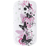 Batterfly Style Pattern Soft Back Case Cover for Samsung S7562