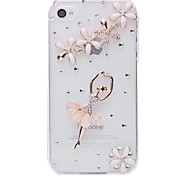 Resin Ballet Jewelry Covered Back Case for iPhone 4/4S