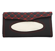 In-car Lattice Pattern PU Leather Napkin Box for Cars