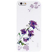 Black Roses Coloured Drawing Pattern Hard Case for iPhone5/5S(Assorted Colors)