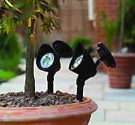 3-LED esterno alimentato solare paesaggio Luce LED Spot cortile giardino percorso prato lampada