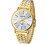Men's Watch Dress Watch Concise Style Gold Round Dial Wrist Watch Cool Watch Unique Watch