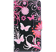 Beautiful Butterflies Pattern Full Body Case with Card Slot for Sony L36h (Xperia Z) (Black)