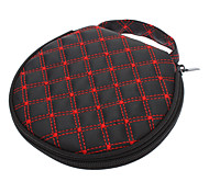 In-car Lattice Pattern PU Leather CD Bag Wallet for Cars