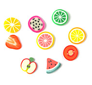 3D Fimo Slice Cartoon Fresh Face Fruit Decoración de uñas