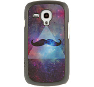 Triangle Beard Drawing Pattern Protective Hard Back Cover Case for Samsung Galaxy S3 Mini I8190