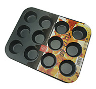 Metal Cake Baking Pan With 12 Cups One Time