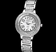 banda esferas de rolamento das mulheres de aço diamante de quartzo analógico pulseira de relógio (cores sortidas)