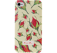 Colorful Florals Pattern Plastic Hard Case for iPhone 4 4S