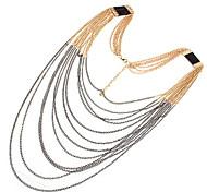 Metallische Verbund Quaste Halsketten