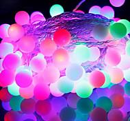 [Newyearsale] 50 levou 9m impermeável eu ligar ao ar livre do feriado do natal luz decoração rgb conduziu a luz string (220v)