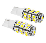 2 Pz T10 2W 25x3020SMD 100-120LM 6000K Cool White LED Light Bulb (12V)