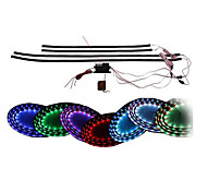 "7 Color LED Under Car Glow Underbody System Neon Lights Kit 36"" x 4 Wireless Remote Control"