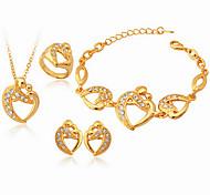 chapado en oro de 18 quilates de la mujer u7® corazón Austiran rhinestone SWA sistemas de la joyería