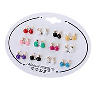 Lamp Bulb Ear Stud Earrings (Random Color)