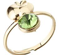 Rhinestone Apple Adjustable Ring(Random Color)