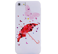 IMD Technique Fashion Lip Flowers Pattern Plastic Case for iPhone 5/5S