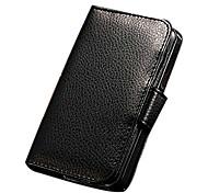 caja de la carpeta del diseño de lujo de negocios de cuero de la PU con el soporte de la tarjeta 7 de 5/5s/5g iphone