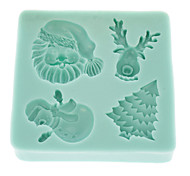 Santa Claus Chocolate Candy Jelly 3d Silicone Mould Cake Tools (1pcs)