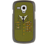 Military Uniform Drawing Pattern Protective Hard Back Cover Case for Samsung Galaxy S3 Mini I8190