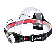 KX-933 Cree XR-E Q5 270lm 2-Mode White Light Zooming Headlamp - Black + Silver (3 x AAA)