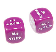 2.5cm 2pcs Purple English Drinking Game Dices