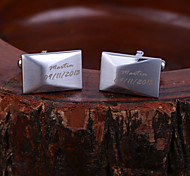 Personalized Gift Polyhedral Engraved Cufflinks