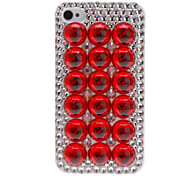 Special Design Beads and Diamond Covered Hard Case for iPhone 4/4S (Assorted Colors)