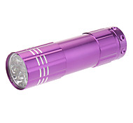 Mini Flashlight 9xLED Single-Mode (3xAAA, Purple)