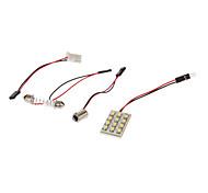 12x3528SMD 80-100LM 6000K Cool White Light LED Bulb for Car (12V,1pcs)