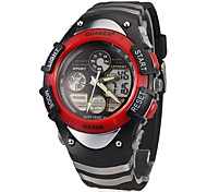 Men's Multi-Functional Analog-Digital Rubber Band Sporty Wrist Watch (Assorted Colors)