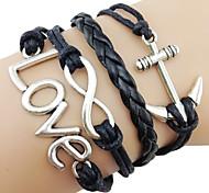 Fashion 7Cm Women'S Black Fabric Wrap Bracelet(Black)(1 Pc)