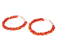 Acrylic Twisted Hoop Earrings(Assorted Color)