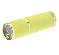 9xLED Mini Flashlight (3xAAA, Yellow)