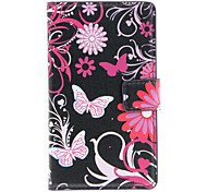 Beautiful Butterflies Pattern Full Body Case with Card Slot for Nokia Lumia 925 (Black)