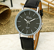Unisex'S Simple Dial Quartz Analog Pu Leather Band Wrist Watch
