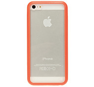 Quality Transparent Hard Case with Solid Color Frame for iPhone 5C (Assorted Colors)