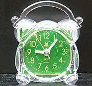 "4""Small With Luminescent Lamps Green Analog Alarm Clock"