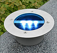 Solar Power Dock runde vertiefte Pathway Garten LED-Licht