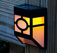2-LED Solar Powered Wall Mount Lantern Light Deck Lamp