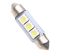 3 5050 SMD LED 36mm Car Interior Dome Festoon White Bulb Light