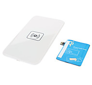 Wireless Charger Pad & Receiver with AWG AC Adapter and Wireless Accept for Samsung Galaxy Note2 N7100(White)