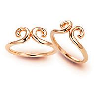 z&X® (2 pcs) mode unisexe quelques alliage or anneaux (Gloden, argent)