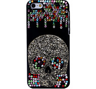 Coloured Diamond Cool Skull Metal Jewelry Back Case for iPhone 5C