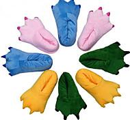 Quatre couleur unisexe chaussons de modèle de patte de coton mignon (Taille: 35-40)