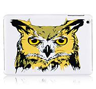 couleur dessin tête de hibou en plastique retour cas pour l'ipad mini-3, Mini iPad 2, ipad mini-