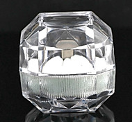 Vintage Transparent Acrylic Jewelry Box For Ring (Transparent)(1 Pc)