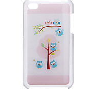 Cartoon Style Cute Owl On The Tree Pattern Epoxy Hard Case for iPod Touch 4
